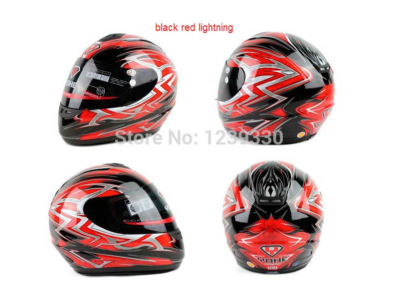 motorcycle black red lightning full face Helmets YOHE 993 ,Motorbike motorcross electric bicycle headpiece safety helmet(China (Mainland))