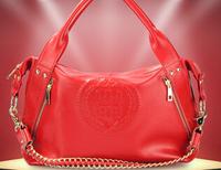 Guangzhou handbags wholesale agent Korean leather Shoulder MesRsenger portable casual leather female bag 35*30*23CM NBA105 Y8PA