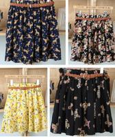 Women's Summer skirt sweet ladies elastic waist floral chiffon skirts tutu skirt child casual skirt women clothing C76