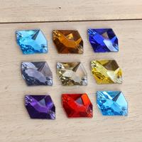 2014 100pcs 16x21Crystal AB  cosmic shape mix colors rhinestones Sew on Rhinestones Acylic rhinestone buttons Flat back gems DIY