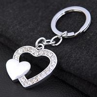 New Brand Couple Key Holder Novelty Items Men Women Zinc Alloy Lovers Keychains A Pair Trinket Keyring Wedding Souvenirs Gift