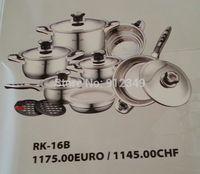 Royal koch 16piece stainless steel cookware set induction cooker pot fry pan casserole saucepan kochgeschirr-set kochtopfset