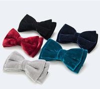 Fashion Velvet bow tie,solid color mens bowtie,mens butterfly tie,groom bow ties Christmas Gift #1738