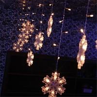 free shipping LED Christmas light /3*0.75m 132 bulbs hung snowflake