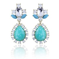 2014 New Fashion Romantic Elegant Charm Popular Generous Rhinestone Water droplets Earrings Women Accessories jewelry M11