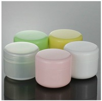 20 pcs/lot, 50g PP cream jar, cream bottle Make-up Cosmetic Cream Container multicolors, FREE SHIPPING