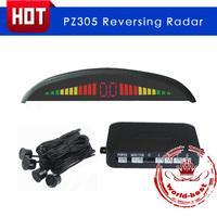 2014 Newest Car LED Parking Sensor Digital Backup Reverse Radar PZ305 4 sensors parktronic free shipping