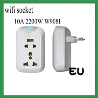 Wireless remote control socket 85-220V 10A switch can be installed through the wall EU plug wifi contro using from ISO ANDROID
