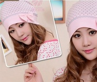 Free shipping! 1pc Cotton round dot anti- wind pregnant hat Pregnant cap