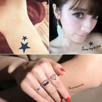 27 different kinds free shipping Temporary tattoo body art Angel wings star tattoo Waterproof tattoo sticker man Women tattoo