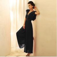 Fashion chiffon jumpsuit skirt female trousers wide leg pants skirt one-piece jumpsuit