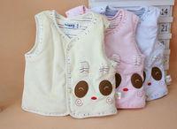 2014 New baby autumn&winter warm vest casual lovely bear children waistcoats baby clothing 1426