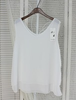 Hot Sale Summer White Perspective Loose Bottoming Blouses Women Female Camisole Tank Tops Two Layer Vest Cropped Top