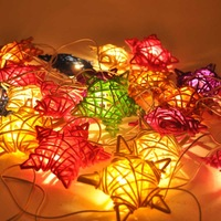 2014  handmade Rattan festival lights LED string lighting Chrismas Tree Decorate Flickering Free shipping by china post ail mail