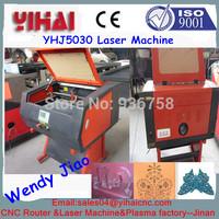 Chinese jinan factory 40w/60w/80w/100w/130w/150w CO2 500*300mm popular cnc laser 5030