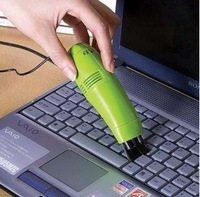 Mini Vacuum USB Keyboard cleaner with LED Light Computer peripheral products(China (Mainland))