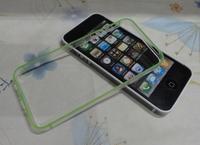 100pcs/lot TPU Bumper Case Skin Cover Frame For iPhone 5 5G 5S