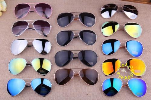 Hot 2014 Sale Brand Designer Blue Mirrored Sunglasses Men Silver Mirror Vintage Sunglasses Women Glasses 15 Colors Free Shipping(China (Mainland))