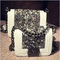 New 2014 Fashion women messenger bags Diamond shoulder bags