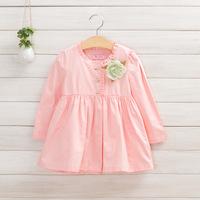 2014 New,girls casual outerwear/jackets,children autumn coats,cotton,button,corsage,pink/blue,5 pcs/lot,wholesale,1500