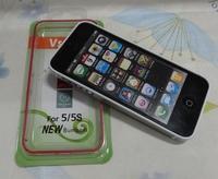 1000pcs/lot Multicolor Skin Bumper Slim TPU Case Cover for iPhone 5 5S