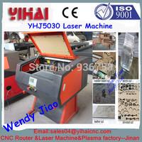 Chinese jinan factory 40w/60w/80w/100w/130w/150w CO2 500*300mm 5030 mini cnc laser
