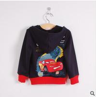 2014 new boy hoodies & kids sweatshirts cartoon boy's outerwear fashion children's car coat 4pieces