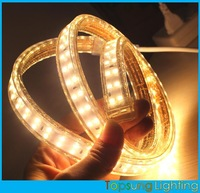 50meter~220v super bright 120smd tape double row 2835 fita led strip light waterproof flexible ribbon rope white/warm white