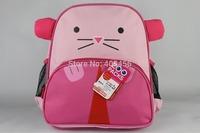 wholesale 80Pcs Lot Canvas double-shoulder kindergarten school bag kids cartoon school bag animal backpack zoo pack for children