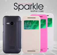 For HTC M8 mini One mini 2 Original Genuine Nillkin Sparkle Cases Flip Leather Luxury Cover Free Ship +Retail box free shipping