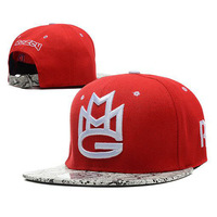 MMG Snapback Hat mens womens Classic design Adjustable Baseball Caps Hip-hop Hats Red snakeskin Free Shipping