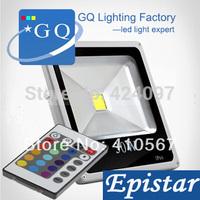 10pcs 10W 20W 30W 50W RGB led flood light colorful search ourdoor lighting AC 110v 120v 220v 230v 240v projectors lamp