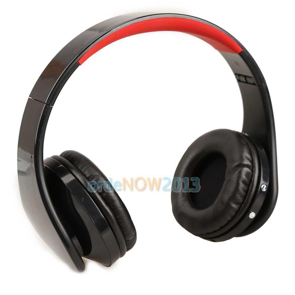 Wireless Cordless SD TF Card Stereo Headset Headphone for MP3/4 PC CD Black WLDE(China (Mainland))