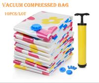 Wholesale10pcs/lot Vacuum Storage Bag/Vacuum Compressed Bag/Vacuum Space Saving Compressed Bag 50*70 60*80 70*100 Free Shipping