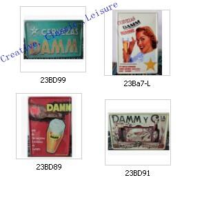 Free shipping Vintage Estrella Damm poster ,Estrella Damm Metal tin signs Bar iron painting ,30x20cm(China (Mainland))