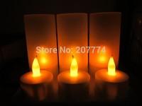 Free shipping 2014 NEW Christmas LED Light Candle 6Pcs(set) Tea Light Rechargeable LED Candle Light+Charging