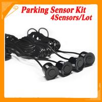 12V Car Parking system Reverse Backup Radar Sound Alert + 4 Sensors silver or Black or red free shipping dropshipping Wholesale