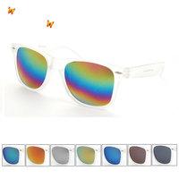 Matte transparent frame coating lens sunglasses Top fashion sun glasses Free Shipping 1028