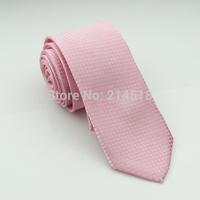 pink colors Man's Ties Neckties Men's Slim Tie Neck Cloth Adult Cravat Fashion Ties 1PCS/LOT
