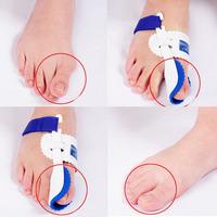 Free Shipping 1 Pair Big Toe Bunion Night Splint Straightener Foot Pain Relief Hallux Valgus #L035656