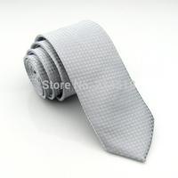 Slim Ties Skinny Tie Men's necktie Polyester plaid fashion neckties blac