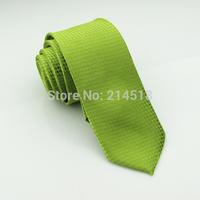 Slim Ties Skinny Tie Men's necktie Polyester plaid fashion neckties green colors