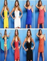 Women's summer dress sexy night club dress Sexy Halter party dresses Veil apron seaside beach women dress D397