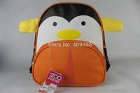 HOT SALE penguin school bags cartoon canvas backpack, cute baby school backpack kids shoulder backpack 15 styles 50pcs/lot