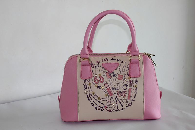 Lili Rabbit J8018R 2014 new Korean sweet lady fashionable female handbag()