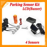 Car Buzzer LCD Parking Sensor Kit 4 Sensors 22mm 12V 7 Colors Reverse Assistance Monitor System Backup Park Set Free Shipping