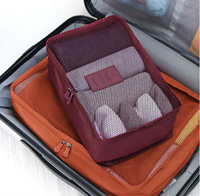 Good Quality travel storage bags Ventilatable with mesh clothes underwear storage organizers(size S)