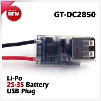 Freeshipping 20PCS/LOT 2-3S RC lipo battery USB charger adapter to 3.7V mobile iphone Ipad