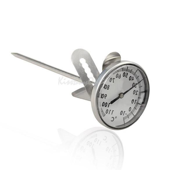 High Quanlity Kitchen Home Stainless Steel Milk Espresso Coffee Frothing Thermometer PTSP(China (Mainland))