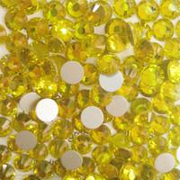 SS4(1.5mm) 1440pcs New Crystal Flatback Non hot Fix 3d Nail Art Decorations Glitter Glass Rhinestones DIY Nail Tools Citrine 021